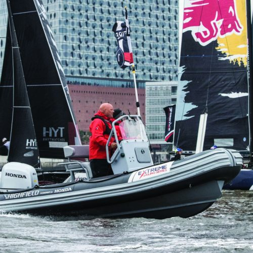 The Extreme Sailing Series 2017. Act5. The racing on day 3 begins.